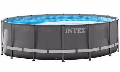 piscina desmontable gre acero redonda imitación madera